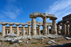 Italy, Campania, Paestum - Temple of Hera Stock Photography