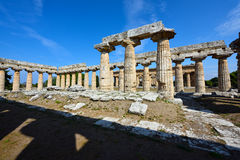 Italy, Campania, Paestum - Temple of Hera Stock Photos