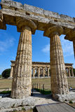 Italy, Campania, Paestum - Temple of Neptune and Hera Royalty Free Stock Photography