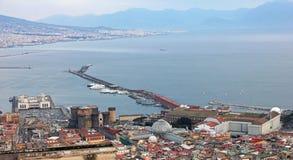 italy Campania Stadsmitten och porten av Naples (Napoli) V Royaltyfria Foton