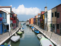 Italy canal. Nice city scape with canal view Stock Photography