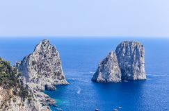 Italy. Capri Island. Faraglioni rock formation Royalty Free Stock Photo
