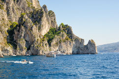 ITALY, CAPRI. One of the most beautiful places in the world-Faraglioni Cliffs, Capri, Italy, Europe Stock Image