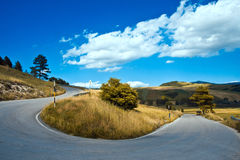 Italy by car - Hairpin bend Stock Photography