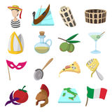 Italy cartoon icons Stock Photography