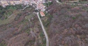 Italy Castellino del Biferno autumn earthquake stock video footage