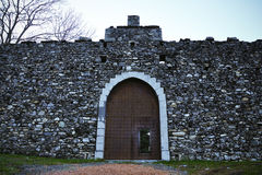 Italy castle entrance 1. Italy Castle entrance gate front view Stock Photography