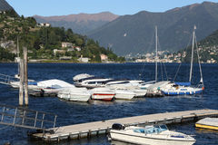 Italy, Cernobbio (CO): the harbour royalty free stock photography