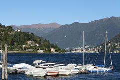 Italy, Cernobbio (CO): the harbour Royalty Free Stock Images