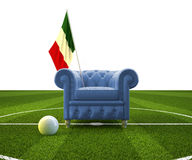 Italy cheer. Leather seat and italian flag for soccer cheer vector illustration
