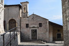 2016. Italy. Chiasetta di San Giacomo di Calino. The photo shows, the church Chiasetta di San Giacomo di Calino. The church is from the 14th. Century Royalty Free Stock Image