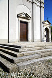 italy church  varese  the old door   and mosaic  daY Royalty Free Stock Photography