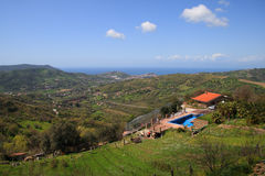 Italy-Cilento-Valley of Agropoli. An image of Italia-Cilento-Valley of Agropoli captured from Torchiara Stock Photography