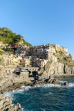 Italy, Cinque Terre landscape. View of Manarola old fishing village Stock Photography
