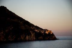 Italy Cinque Terre ligurian coast seaview sunset Stock Images