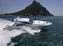 Italy, Circeo Bay (Rome), luxury yacht royalty free stock images