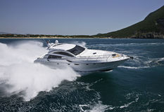 Italy, Circeo Bay (Rome), luxury yacht Stock Image