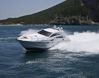 Italy, Circeo Bay (Rome), luxury yacht Stock Photos