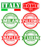 Italy cities stamps Royalty Free Stock Photo