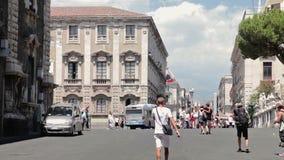 Catania 27 July 17 Sicilia island, Italia stock video footage