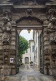 Medieval city gate beautiful structure royalty free stock images