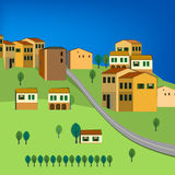 01 Italy City. Vector illustration of abstract Italy  city landscape Stock Photos