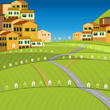 02 Italy City. Vector illustration of abstract Italy  city landscape Stock Photography