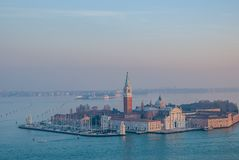 Italy.City of Venice. Italy. San Giorgio Maggiore in the city of Venice royalty free stock photography