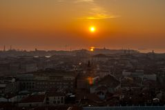 Italy.City of Venice. Italy. Sunset in the city of Venice stock photos