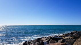 Italy Civitavecchia Sea royalty free stock images