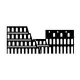 Italy coliseum landmark Stock Image