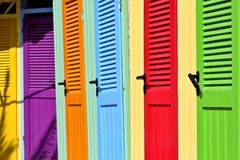 Italy: Colorful changing rooms Royalty Free Stock Photo