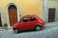 Italy, Compact car Royalty Free Stock Image