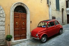 Italy, Compact car Stock Images
