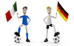 Italy contra Alemanha Fotos de Stock Royalty Free