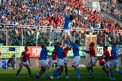 Italy contra Wales, rugby de seis nações Imagens de Stock Royalty Free