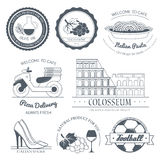 Italy country set label. Template of emblem element for your product or design, web and mobile applications with text Stock Photo