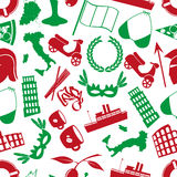 Italy country theme various icons seamless pattern Stock Photo