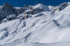 Italy, Courmayeur, Mont Blanc range Royalty Free Stock Images