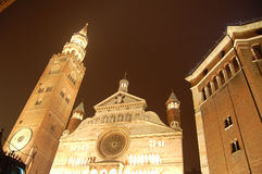 Italy,Cremona. S chatedral,night scene Stock Photography
