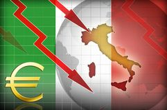 Italy crisis background. Illustration concept Royalty Free Stock Photos