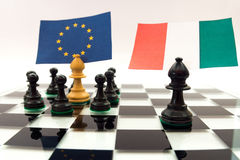Italy crisis Stock Photo
