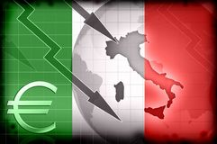 Italy crisis grunge background Royalty Free Stock Photo