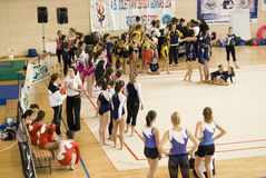 Italy Cup G.p.T gymnastics Royalty Free Stock Photos