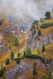 Italy - Dolomites. Mountains view from Pordoi Stock Photo