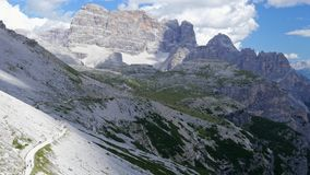 Italy Dolomites. View of the mountains stock video