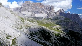 Italy Dolomites. View of the mountains stock footage