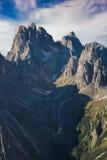 Italy, Dolomites - a wonderful landscape, the barren rocks.  Stock Photos