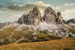 Italy, Dolomites - a wonderful landscape, the barren rocks.  Royalty Free Stock Photography