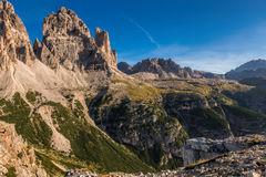 Italy, Dolomites - a wonderful landscape, the barren rocks Stock Images